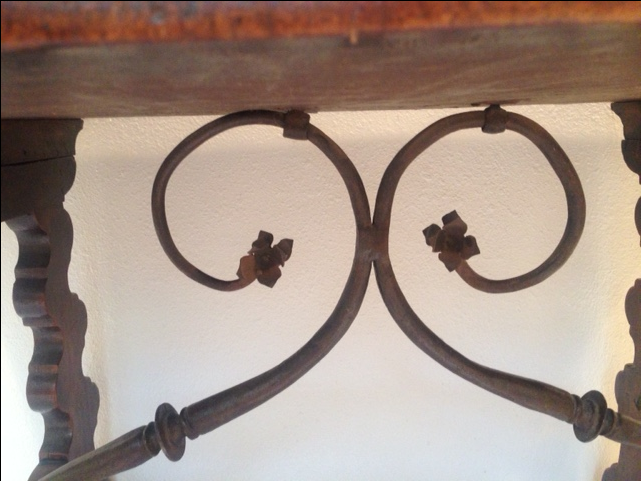 Antique Spanish Walnut Table For Sale   Image 4 Of 8