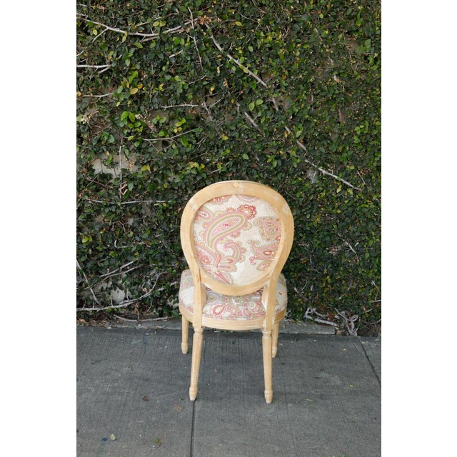 Louis XVI Style Paisley Side Chairs - a Pair For Sale - Image 5 of 7