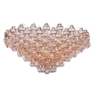 Pink Manubri Murano Glass Chandelier For Sale