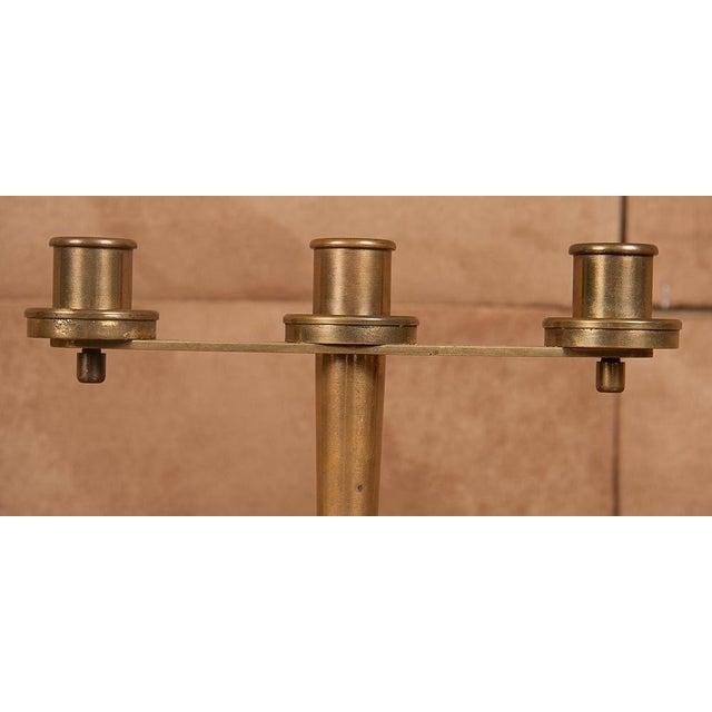 Art Deco Tiffany & Co. Art Deco Bronze Candelabra - a Pair For Sale - Image 3 of 9