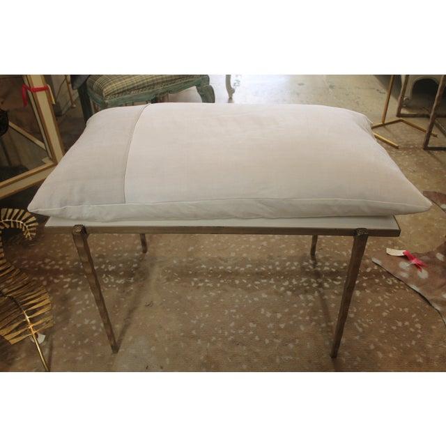 Handmade Steel Pillow Bench - Image 2 of 7