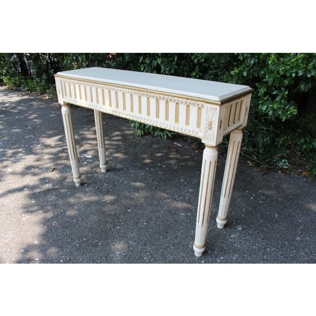 Country Swedish Console Table For Sale - Image 3 of 7