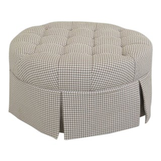 Calico Corners Tufted Upholstered Round Ottoman