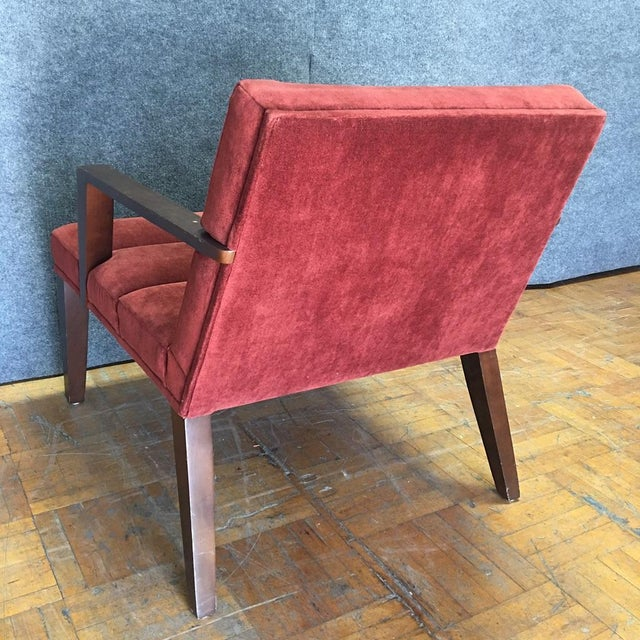 Bright Elana Burgundy Lounge Armchairs - A Pair - Image 8 of 11