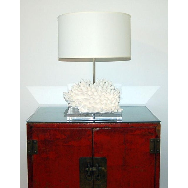 Swank Lighting Coral Finger Table Lamp White For Sale - Image 4 of 9