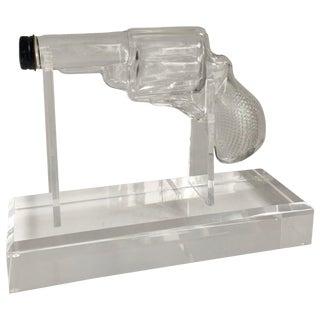 Glass Gun on Custom Acrylic Stand For Sale