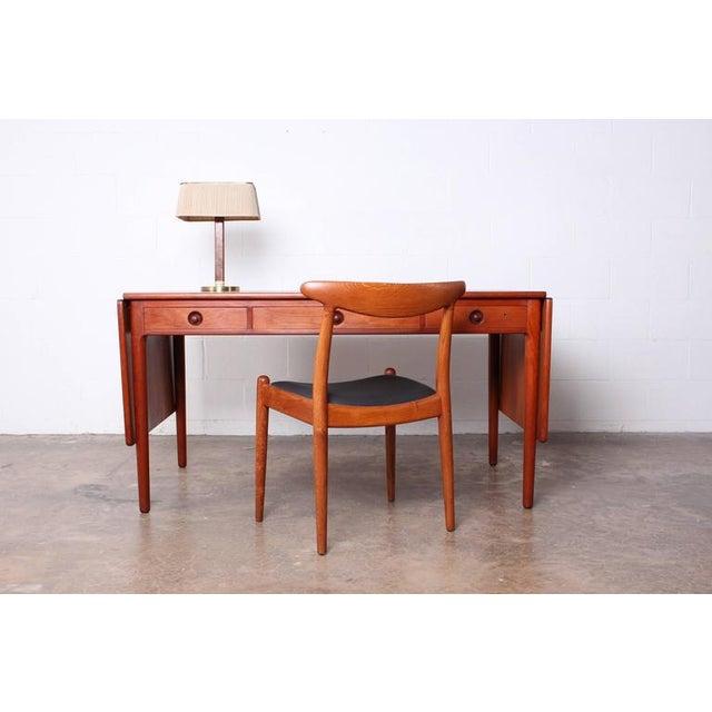 Hans Wegner Drop-Leaf Table Desk AT305 For Sale - Image 9 of 10