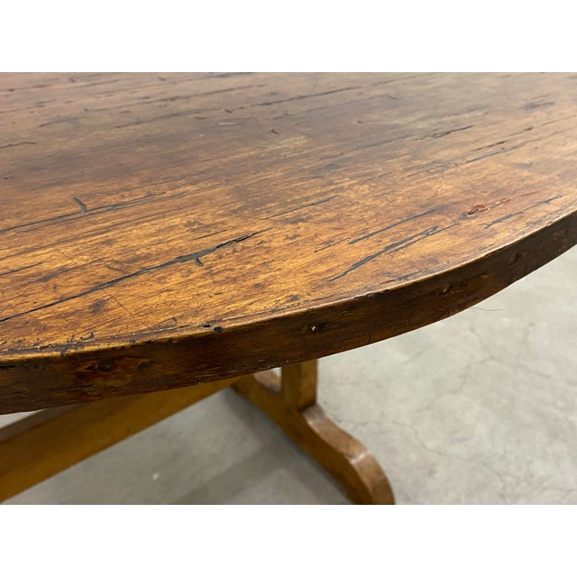 Brown 19th Century French Tilt Top Tavern or Wine Table For Sale - Image 8 of 9