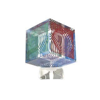 Victor Vasarely Op Art Silkscreen Acrylic Sculpture For Sale