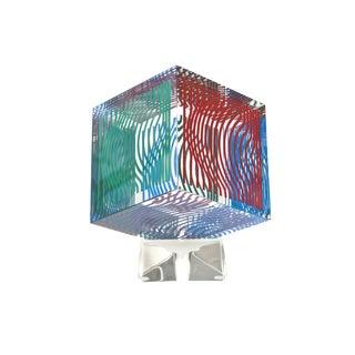 Victor Vasarely Op Art Silkscreen Acrylic Sculpture