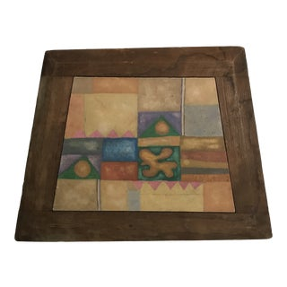 Abstract Painting With Handcrafted Frame For Sale