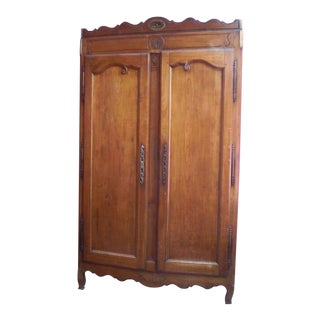 1780 French Cherry Wardrobe For Sale