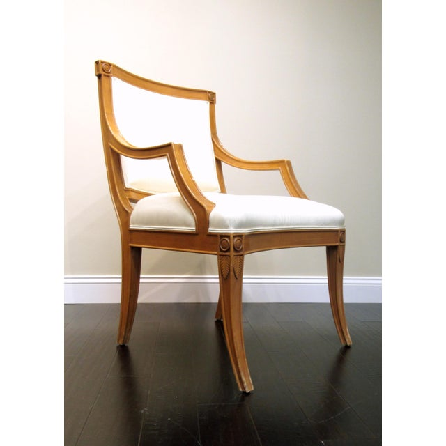 J. Robert Scott J. Robert Scott Tuscan Italian Arm Chairs For Sale - Image 4 of 8