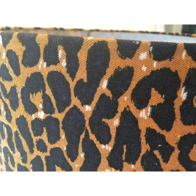 Leopard Fabric Lamp Shade - Image 7 of 7