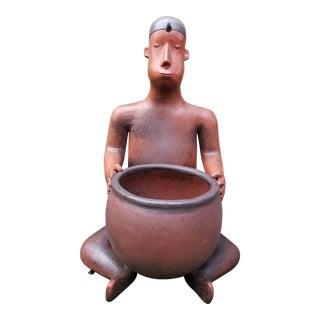 Southwestern Style Ceramic Garden Sculpture/Planter For Sale