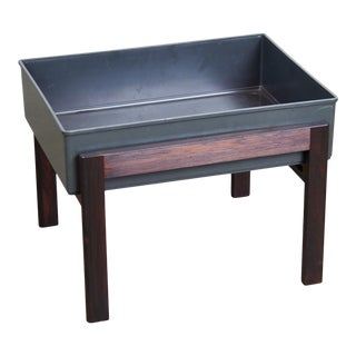 1960s Danish Modern Rosewood Planter With Floating Tray For Sale