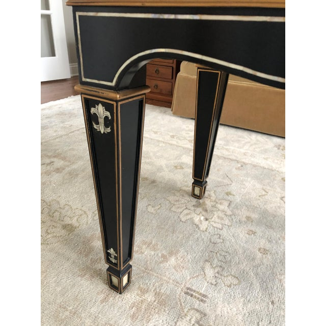 Gem of a Hollywood Regency Black Tray Coffee Table For Sale - Image 9 of 13