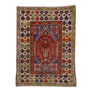 Vintage Turkish Oushak Rug with Modern Traditional Style