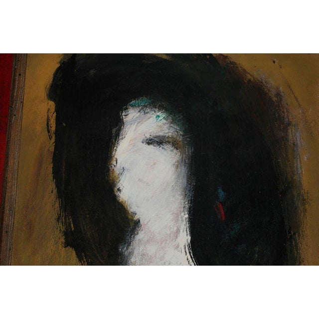 A very unusual abstract portrait the we believe to be the work of the Danish artist Peter Brandes. It is signed Brandes 66...