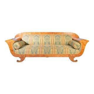 Biedermeier Sofa in Birch-Sweden 1900s For Sale