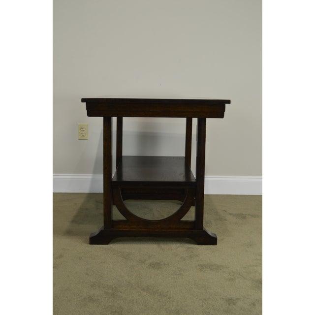 j.k. Rishel Antique Arts & Crafts Mission Oak Library Table Desk No. 811 For Sale - Image 4 of 13