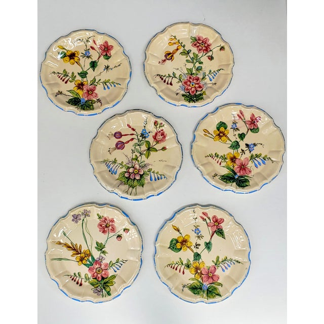 1930s Nove Rose Plates - Set of 6 For Sale In Charleston - Image 6 of 7