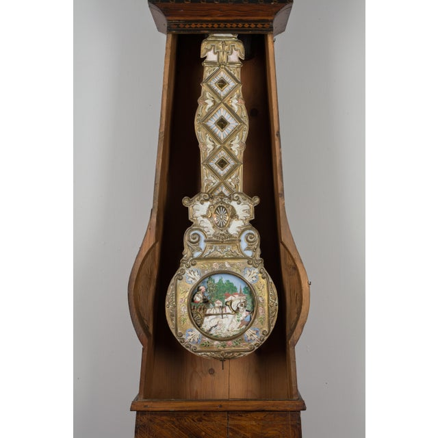 Metal 19th Century French Comtoise Grandfather Clock With Automated Pendulum For Sale - Image 7 of 11