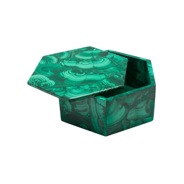 Dress up any bookshelf with these stunning large solid malachite boxes or use for beautiful jewelry storage to transform...