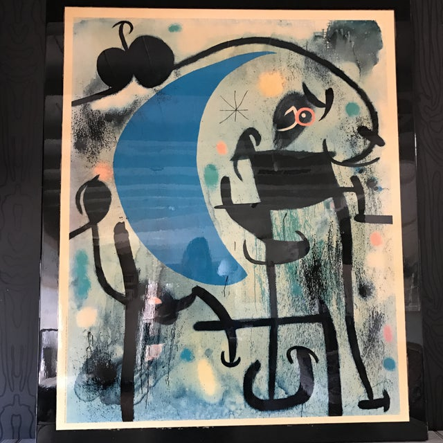 Joan Miro 1980's Lacquer Mounted Italian Poster - Image 3 of 10