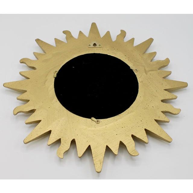 Mid Century Modern Gold Sunburst Mirror For Sale - Image 11 of 13
