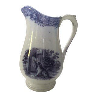 Antique Staffordshire Dog and Donkey Pitcher For Sale