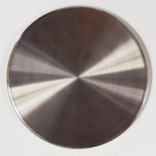 Fabio Ltd Six-Piece Set of Black Shagreen Coasters by Fabio Ltd For Sale - Image 4 of 5