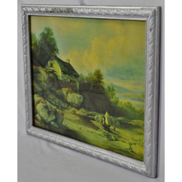 Impressionism Vintage Framed Landscape Print by Muller For Sale - Image 3 of 12