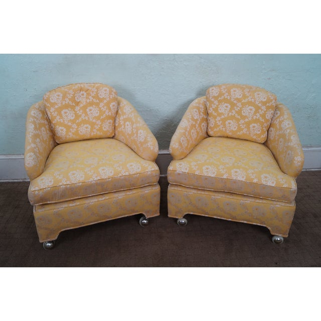 Mid-Century Barrel Back Lounge Chairs - Pair - Image 2 of 10