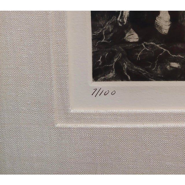 g.h. Rothe - Pair of Horses in Love - Beautiful Color Mezzotint -Pencil Signed For Sale In Los Angeles - Image 6 of 10