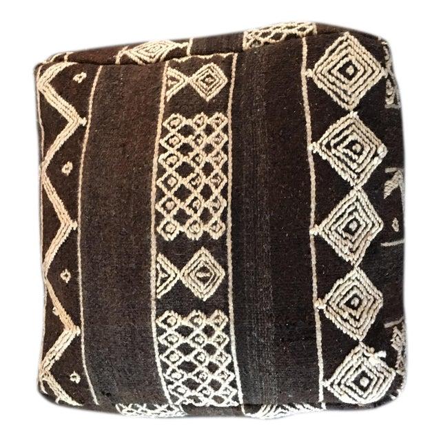 Moroccan Boho Chic Floor Pouf - Image 1 of 4
