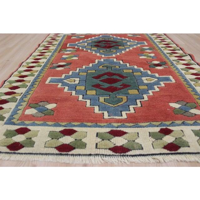 Ori̇ental Turki̇sh Wool Rug - 3′6″ × 4′10″ For Sale - Image 5 of 7