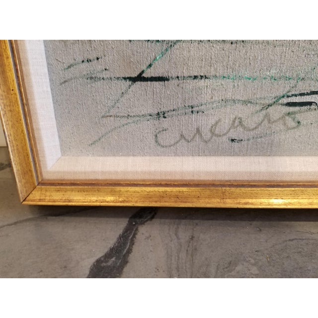 """An original, large-scale, abstract expressionist oil painting by Pascal Cucaro. Signed lower left """"Cucaro"""". Original..."""