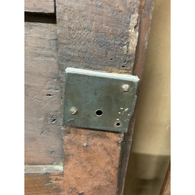 Late 18th C Antique French Oak Armoire Doors, a Pair For Sale - Image 12 of 13