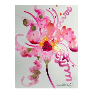 """Original """"Stargazer Candy"""" Watercolor Painting For Sale"""