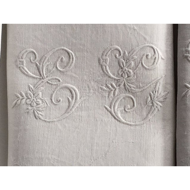 Antique French Set of 11 Snow White Dinner Napkins Monogramed Beautiful monogramming and subtle design. I believe they are...