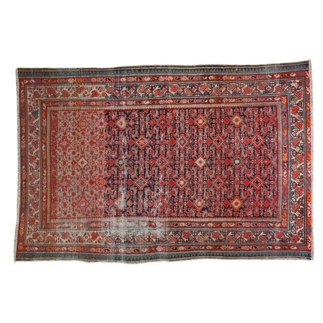 "Distressed Antique Malayer Rug - 4'1"" X 6' - Image 1 of 8"