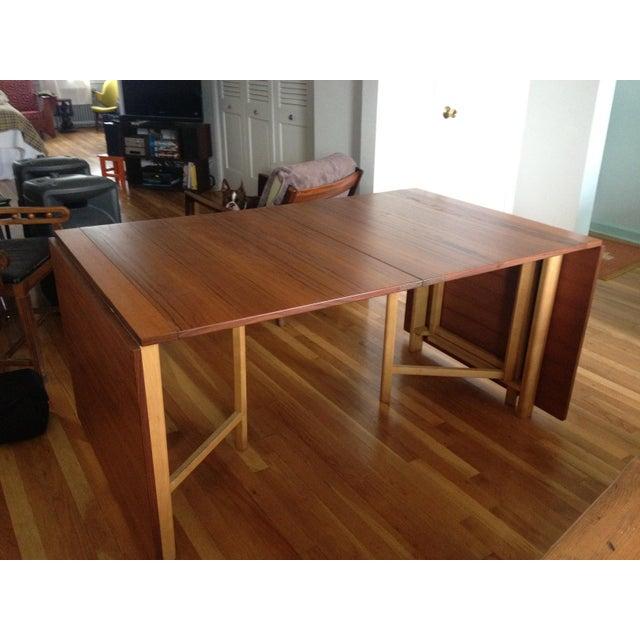 "Teak Expanding ""Maria Flap"" Table - Image 9 of 9"
