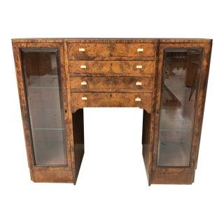 20th Century Art Deco Burl Server Cabinet For Sale