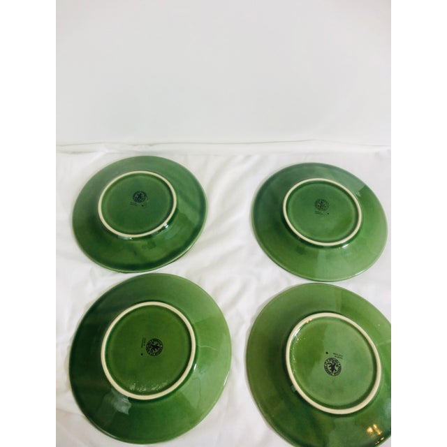 Lovely set of 4 Bordallo Pinherio fruit pattern salad plates. Great for mixing and matching with other china patterns.