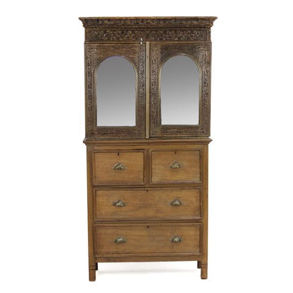 Antique Hand-Carved Secretary Cabinet - Antique Hand-Carved Secretary Cabinet Chairish