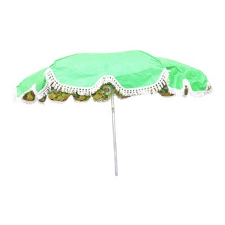 Vintage Mid Century Green Vinyl Umbrella - New in Box