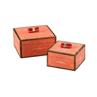 Coral Boxes - A Pair For Sale