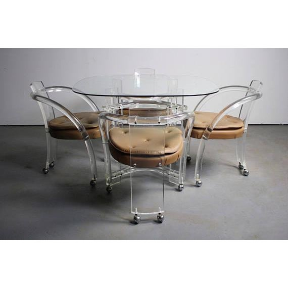 Charles Hollis Jones Charles Hollis Jones Dining Chairs- Set of 4 For Sale - Image 4 of 5