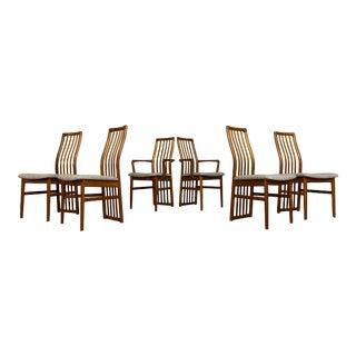 Kai Kristiansen for Schou Andersen Mid-Century Danish Teak Dining Chairs - Set of 6 For Sale